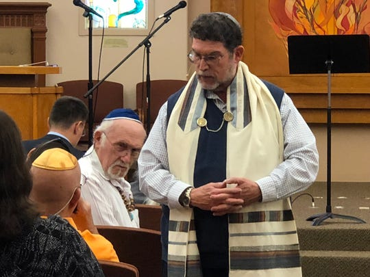 Temple Beth-El Rabbi Larry Karol led a memorial service on Sunday, Oct. 28. The service honored the victims of Saturday's attack on Tree of Life Synagogue in Pittsburgh.