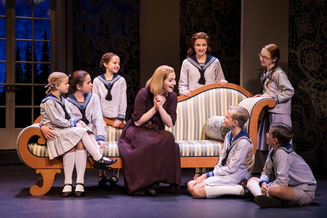 "The cast performs a scene from ""The Sound of Music,"" scheduled Nov. 12-13 at the Spencer Theater."