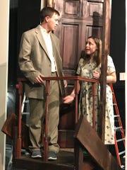 Dr. Nikolai Zubritsky (Nick Walker) talks with his wife, Lenya (Gabby Gjerding) just before Count Gregor proposes to their daughter, Sophia.