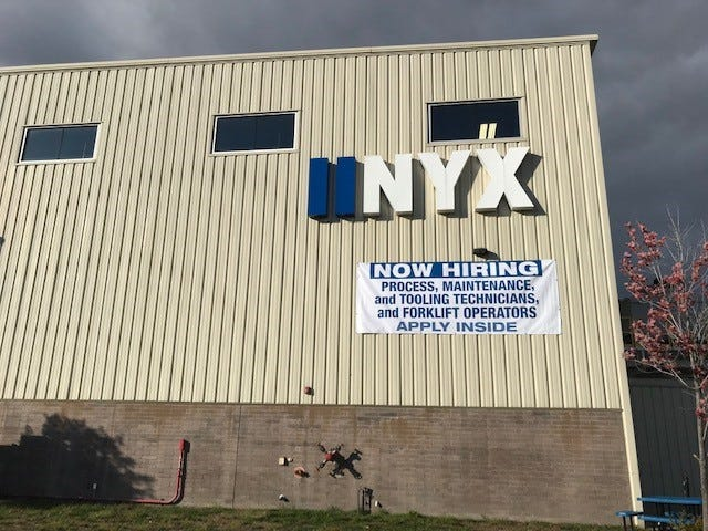 NYX is hiring new employees as it embarks on an $8.5 million expansion of its facility on Plymouth Road, east of Eckles.
