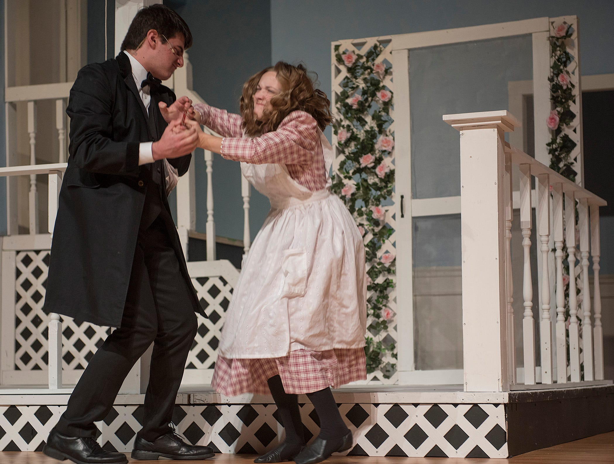 Captain Keller (Charles Hilu) can't control his daughter Helen (Jillian Bocketti), just like everyone else in the family.