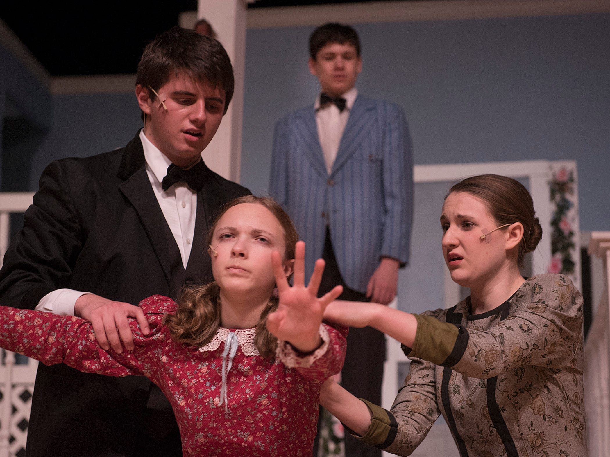 Helen's (Jillian Bocketti) family, Captain Keller (Charles Hilu), Kate Keller (Emma Pickett) and half-brother James (Nick Czarnota) react to the profound change in her daughter as they hear that Helen is learning to communicate.