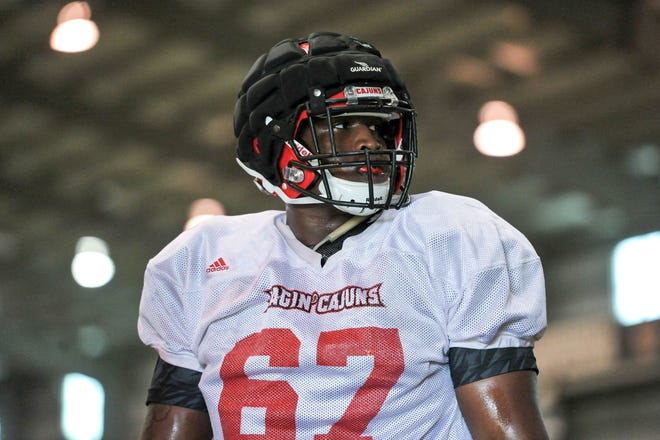 Ken Marks is among the Cajuns offensive linemen contributing to the success of UL's run game this season.