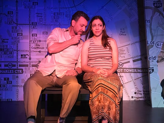 "Dennis Gersten and Angela Sauer star in the CVRep production of ""How I Learned To Drive"""