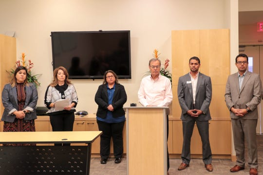 La Quinta officials speak at La Quinta City Hall on Tuesday, October 30, 2018.
