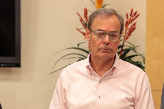 Frank J. Spevacek speaks at La Quinta City Hall at Tuesday, October 30, 2018.