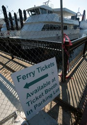 The ferries built to service the National Parks Service sit idle at their Commendencia street slip on Tuesday, Oct. 30, 2018.  The operator of Pensacola's two, 150-passenger ferries has said it is unlikely his company will continue service for the 2019 season after failed negotiations with the National Park Service.
