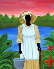 Artist Sonja Evans, formerly of Pensacola, was inspired by the rural and African influences of her childhood in the Gullah community of Beaufort, South Carolina.
