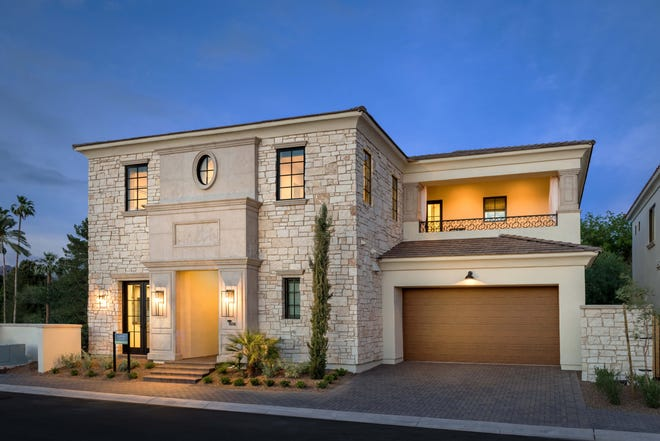 The Villas at Baker Park, a gated enclave of semi-custom luxury homes at 40th Street and Osborn Road in Phoenix.