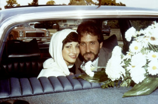Gloria and Emilio Estefan are seen on their wedding day in 1978.