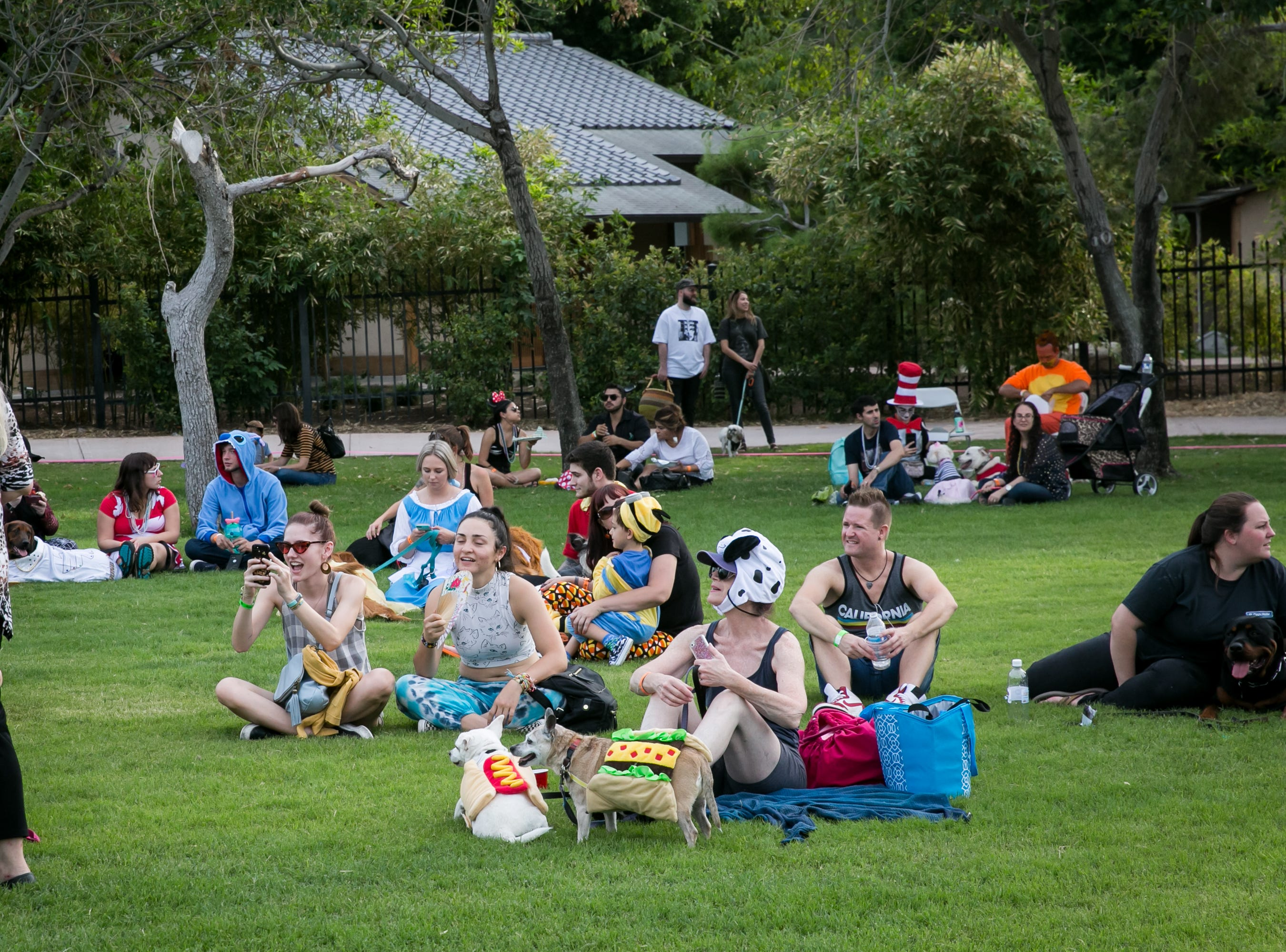 The grass was a great hang out spot during Howl-o-Ween at Hance Park on Sunday, October 28, 2018.