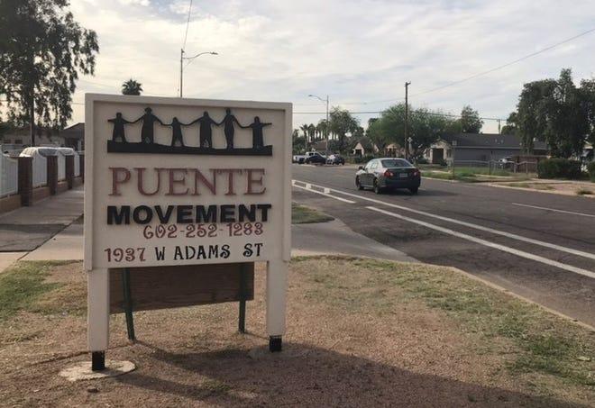 A sign outside Puente Arizona's headquarters on 1937 W. Adams St. in Phoenix.