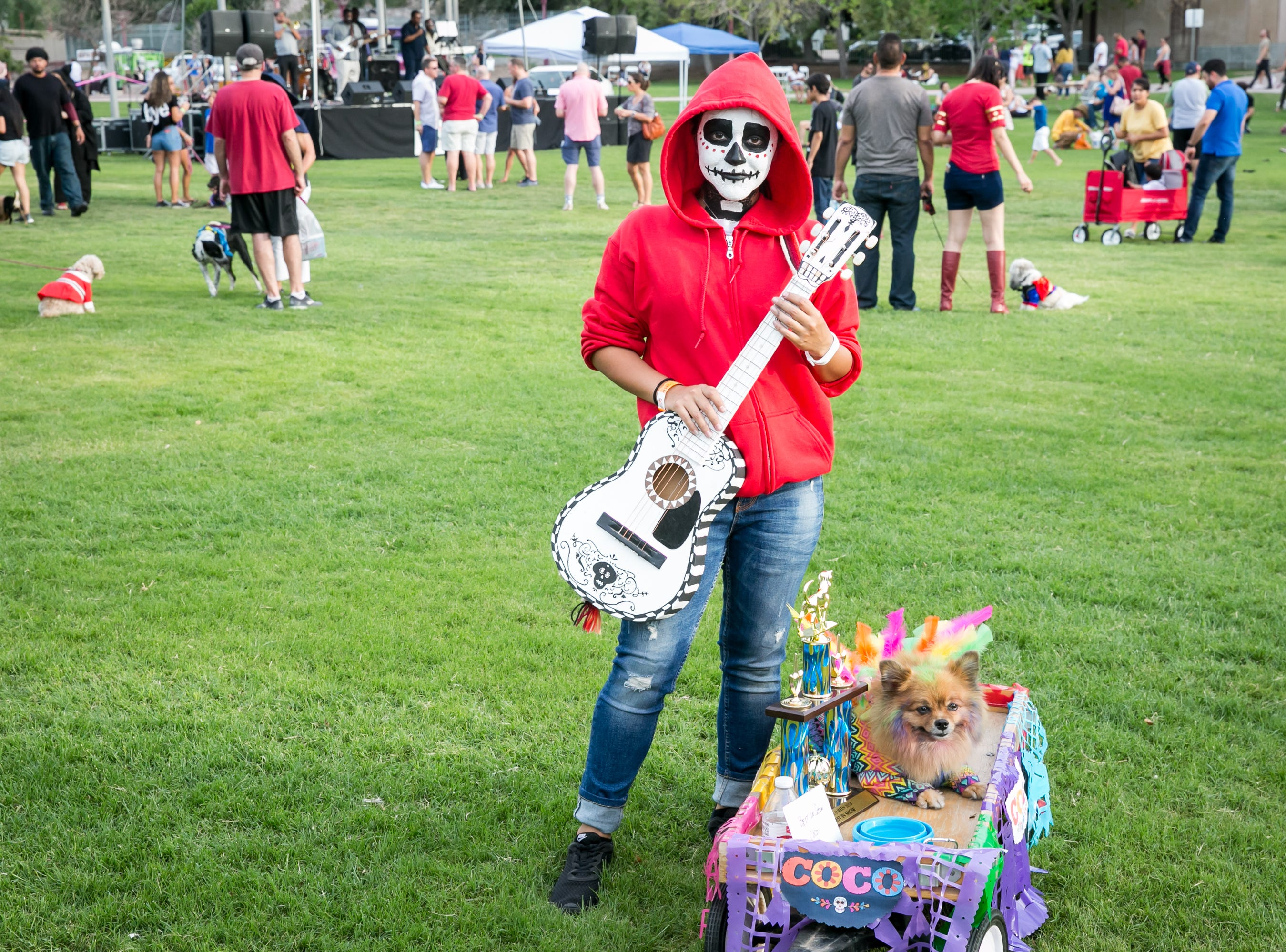 Coco won the best overall costume prize during Howl-o-Ween at Hance Park on Sunday, October 28, 2018.