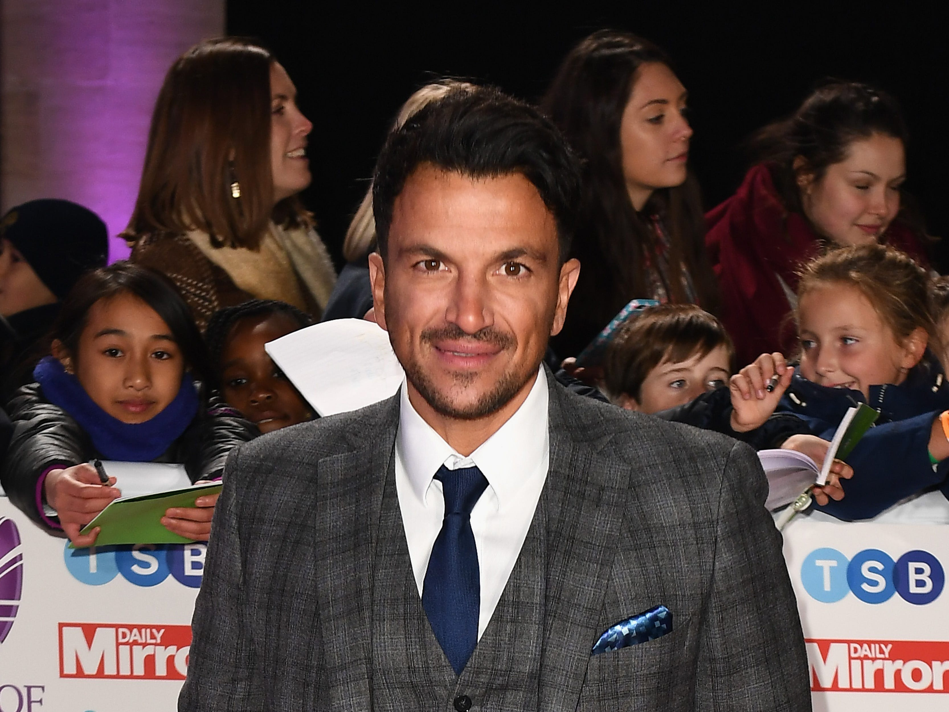 Peter Andre attends the Pride of Britain Awards 2018 on Oct. 29, 2018 in London.