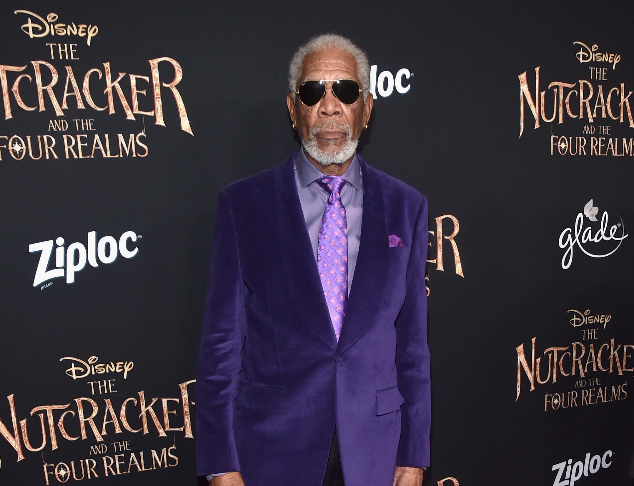 "Morgan Freeman attends the world premiere of ""The Nutcracker and the Four Realms"" on Oct. 29, 2018, in Hollywood, California."
