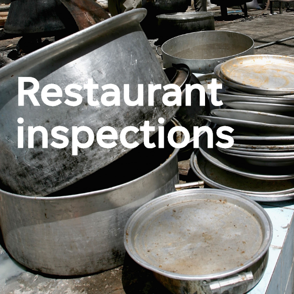 See the latest food establishment inspection results