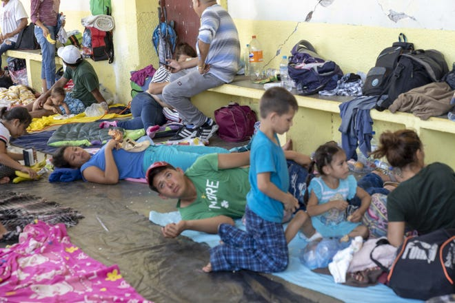 Central American migrants traveling in a caravan headed for the U.S. reached the town of Santiago Niltepec in the state of Oaxaca, Oct. 30, 2018.