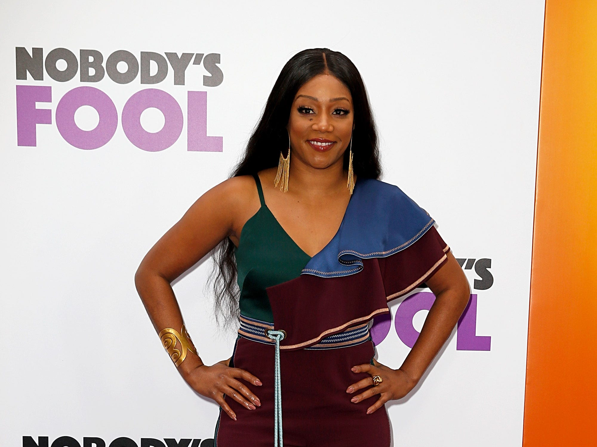 "Tiffany Haddish attends the ""Nobody's Fool"" New York premiere on Oct. 28, 2018, in New York City."