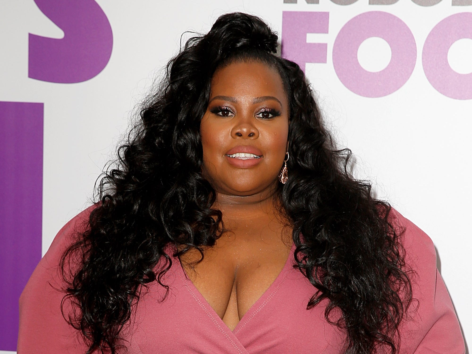 "Amber Riley attends the ""Nobody's Fool"" New York premiere on Oct. 28, 2018, in New York City."