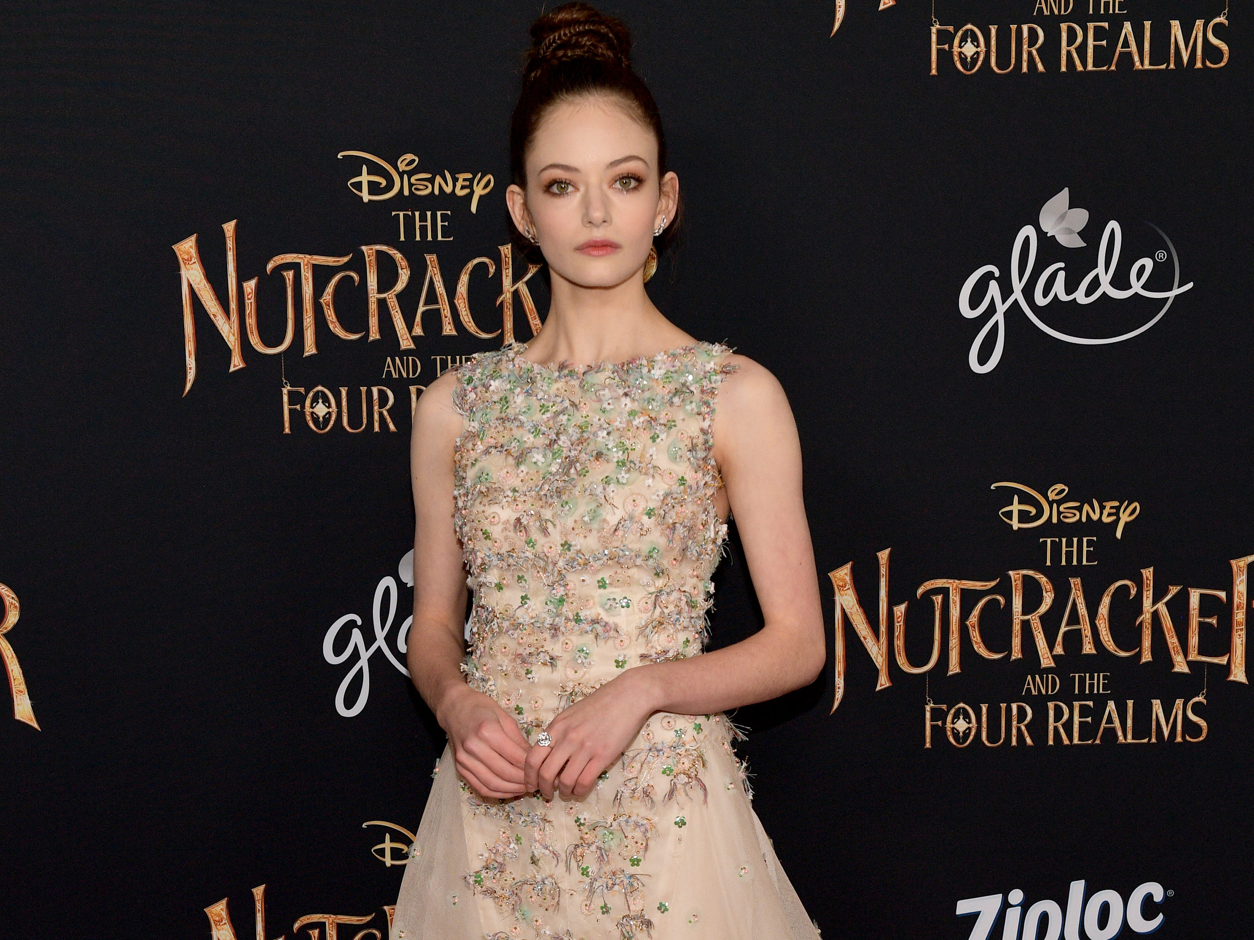 "Mackenzie Foy attends the world premiere of ""The Nutcracker and the Four Realms"" on Oct. 29, 2018, in Hollywood, California."
