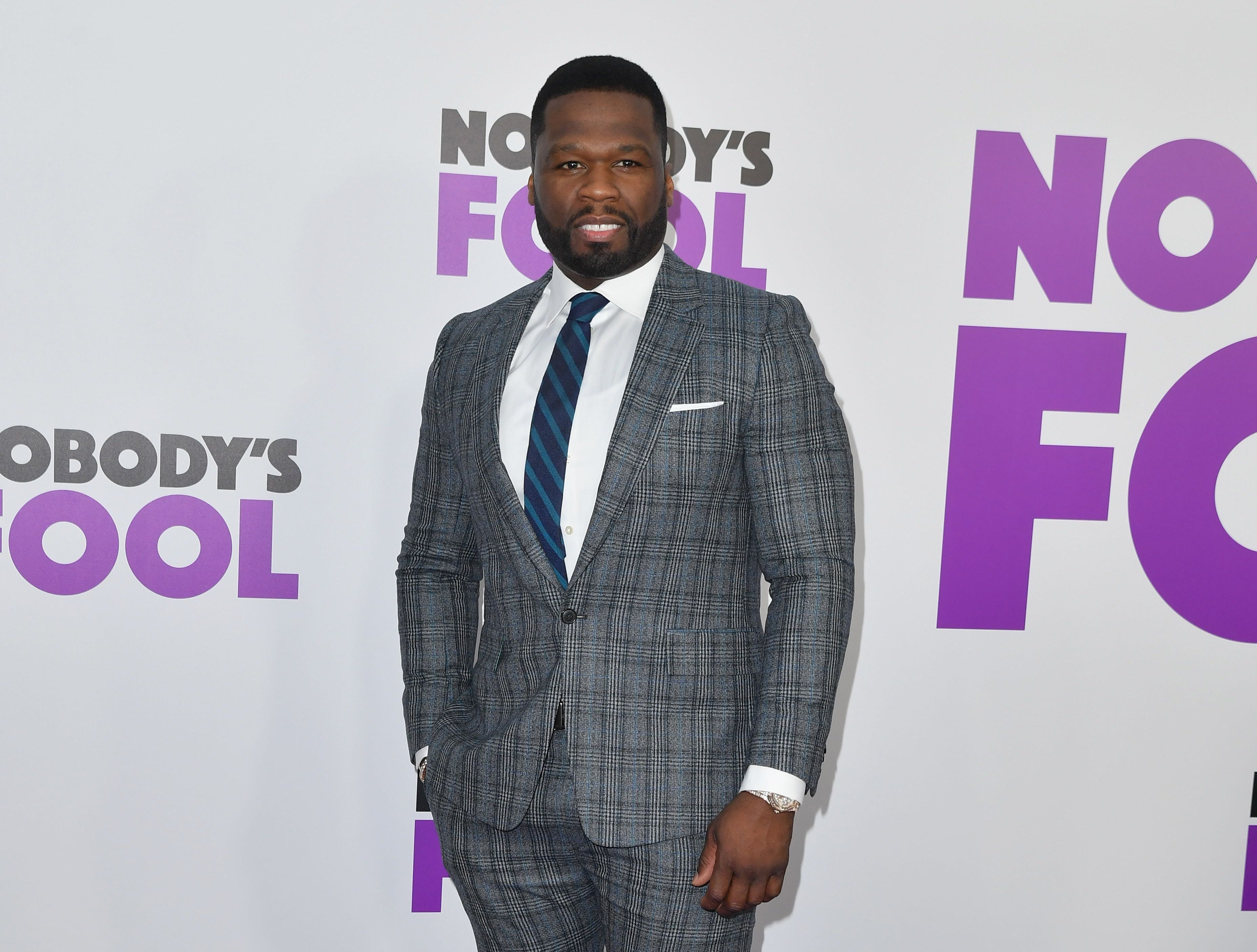 "50 Cent attends the ""Nobody's Fool"" New York premiere on Oct. 28, 2018, in New York City."