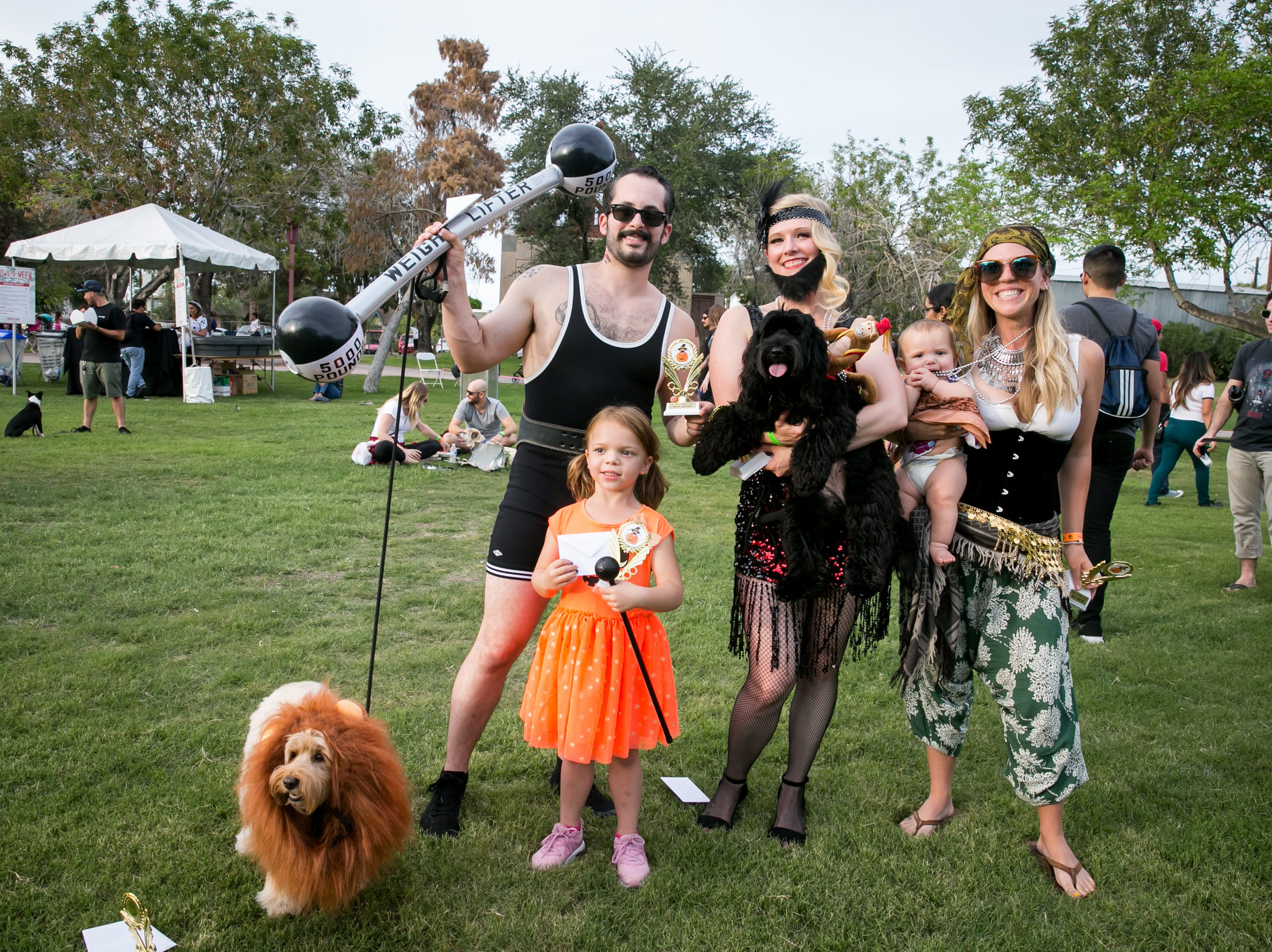 The circus family won a prize for best group costume during Howl-o-Ween at Hance Park on Sunday, October 28, 2018.