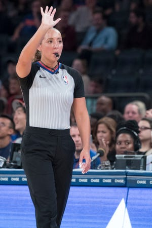 Ashley Moyer-Gleich, a 2006 Cedar Crest grad, was promoted to full-time status as an NBA official on Thursday.