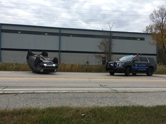Rescue crews were called to a crash on Busha Highway shortly before 2 p.m. Tuesday.