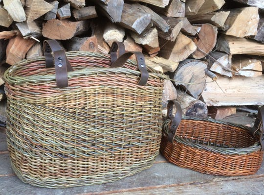 Jesica Clark creates baskets from locally grown vines, weaving them into one-of-a-kind baskets.