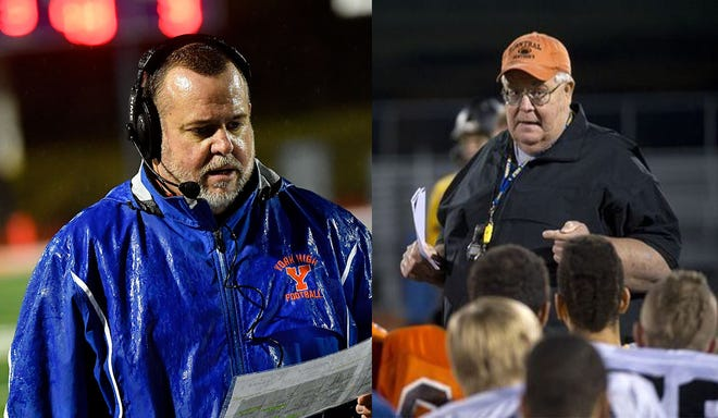 Russ Stoner (left) worked under Brad Livingston (right) at Central York for 16 years.