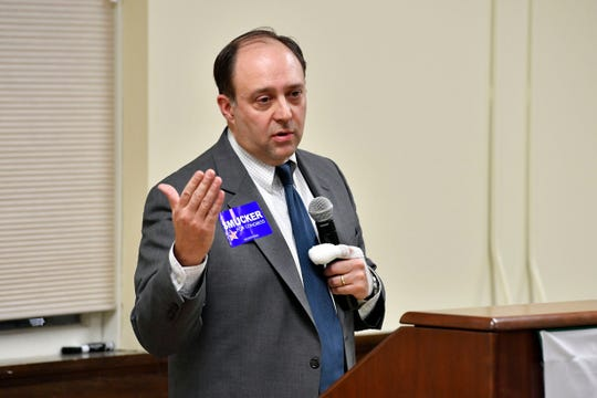 Greg Facchiano, speaking on behalf of Lloyd Smucker, speaks about Smucker's policies and platform at the York College Center for Community Engagement on Monday, Oct. 29, 2018. Candidates night, sponsored by the York Daily Record and York College, invited all candidates in all contested local races, from governor to house representative. It was a chance for the community to get to know the candidate in a setting other than a debate.