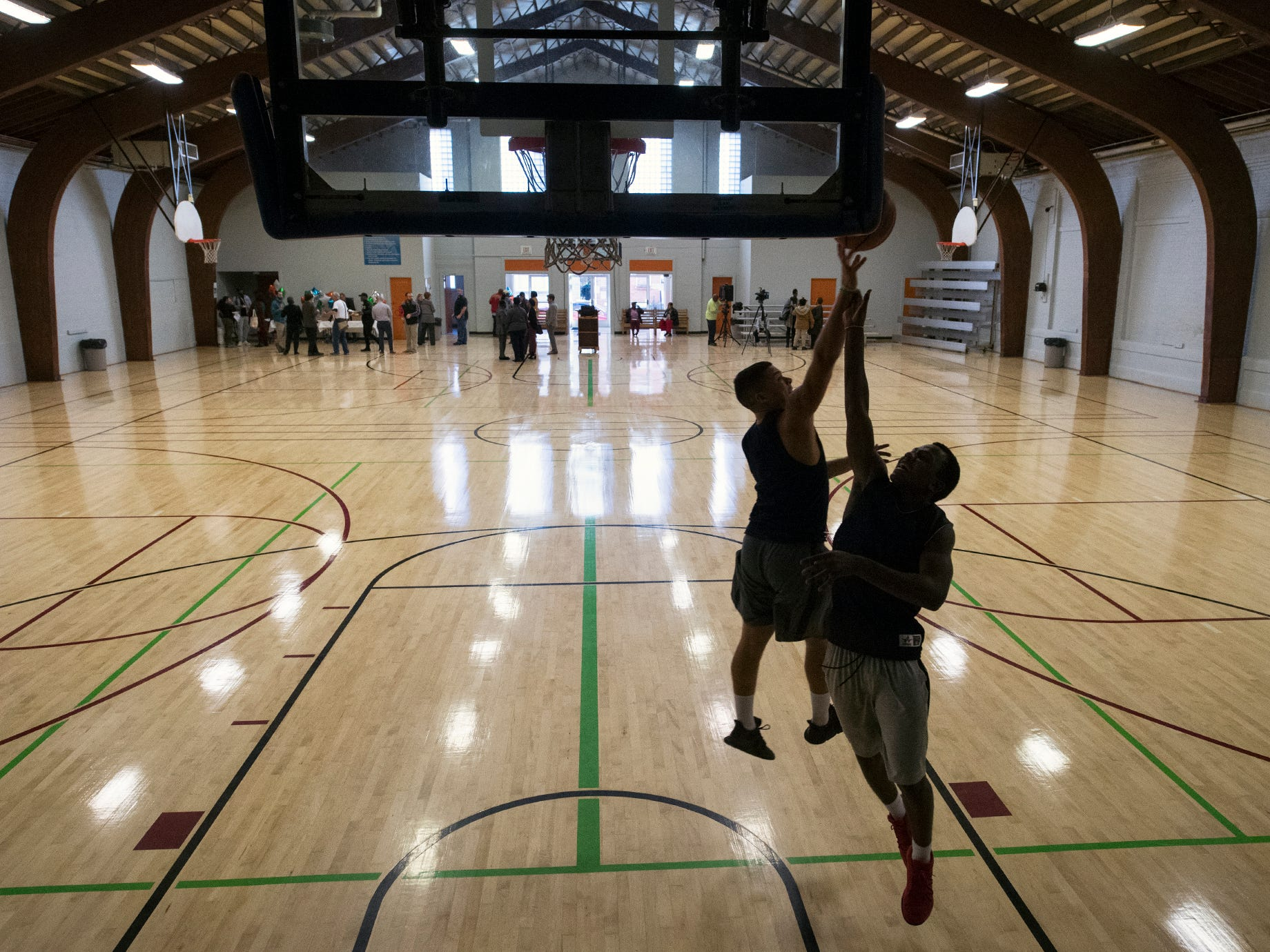 Open Gym Season at Voni Grimes Gym began this week alongside a ceremony to mark the conclusion of the first phase of renovations to the century-old structure on East College Avenue in York. A new floor surface and painted interior walls were part of the renovation.
