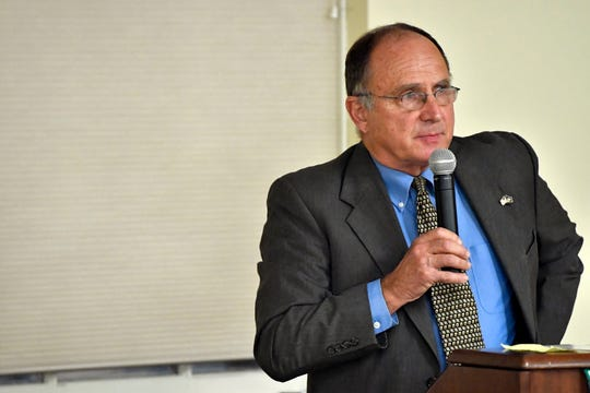 Rep. Keith Gillespie, who represents the PA House District 47, speaks at the York College Center for Community Engagement on Monday, Oct. 29, 2018. Candidates night, sponsored by the York Daily Record and York College, invited all candidates in all contested local races, from governor to house representative. It was a chance for the community to get to know the candidate in a setting other than a debate.