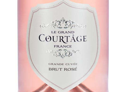 Le Grand Courtâge brut rosé sparkling wine from France.