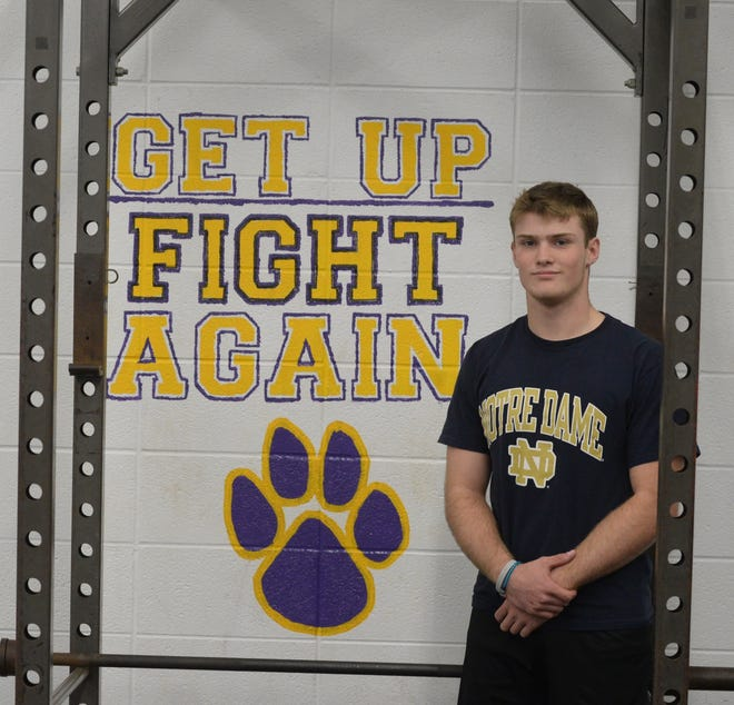 A year after exiting the sectional championship game with a concussion, Cody Swimm will help Hagerstown play in its third straight sectional championship Friday.