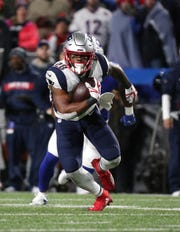 Patriots running back James White had 10 receptions against the Bills in Orchard Park last season.
