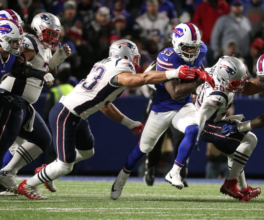 Bills running back Chris Ivory gained 34 yards on his six carries against the Patriots.