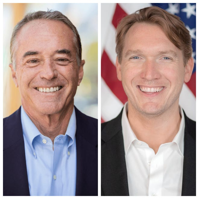 U.S. Rep. Christopher Collins, R-Clarence, Erie County and his Democratic challenger Nate McMurray
