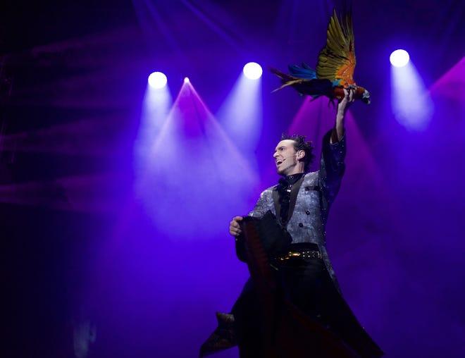 David DaVinci performs his dove act.