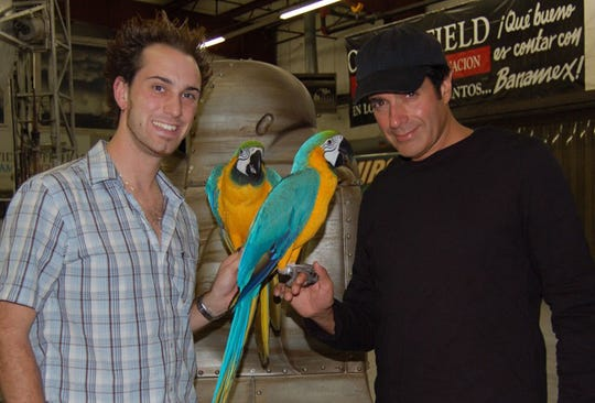 David DaVinci (left) with magician David Copperfield.