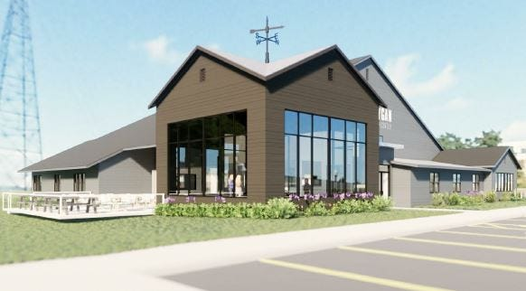 Rendering of the proposed new Sheboygan Visitor Center.