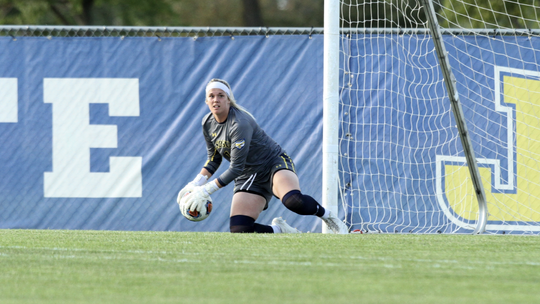 Maggie Smither has been one of the top goalies in the Summit League for SDSU
