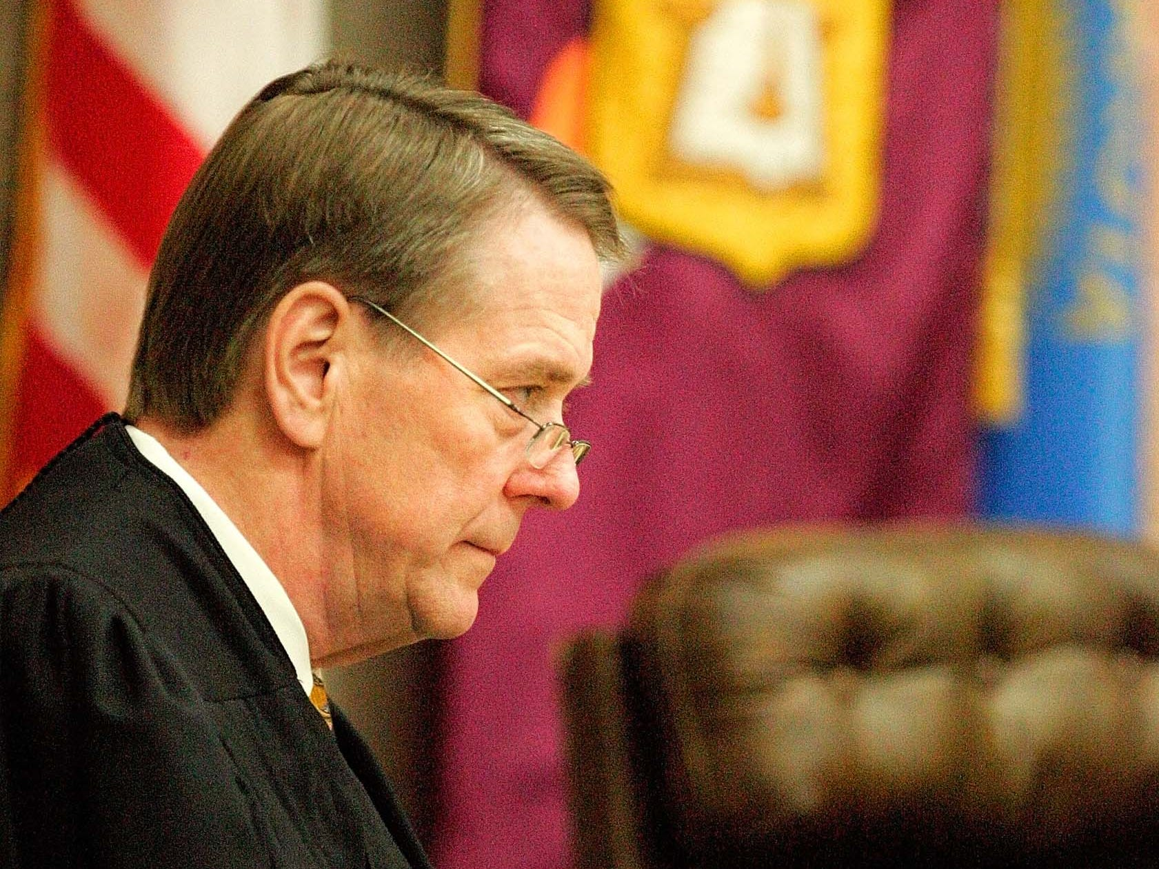 South Dakota Supreme Court Justice Steven L. Zinter hears the State v. Mulligan case in 2007.