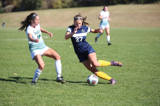 Skylar Moen and the Augustana soccer team host Winona State on Wednesday in NSIC tournament action