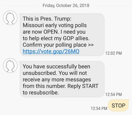 GOP Text Messages