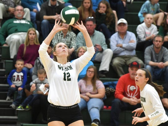 Paris Hutchison, one of two setters for Wilson Memorial, finished the season with 364 assists.