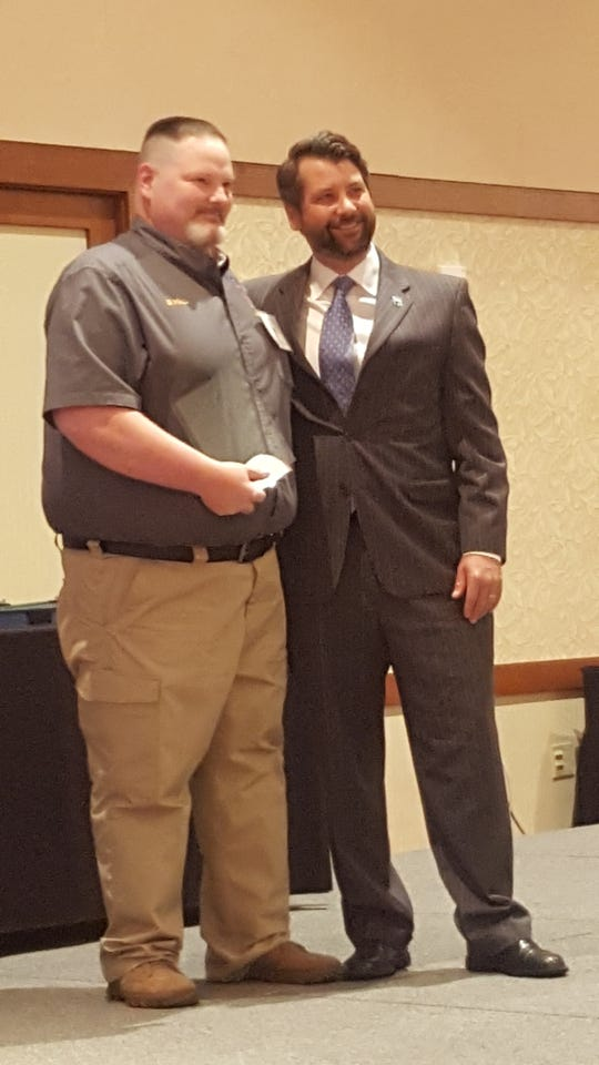 """Telecommunicator William """"Billy"""" Hall awarded the Communications Officer of the Year."""