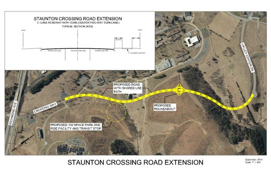 New road for Staunton Crossing thanks to a VDOT grant.