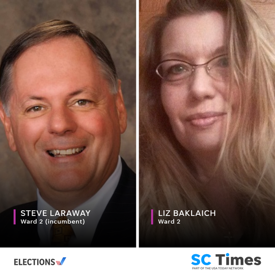 St. Cloud City Council Ward 2 candidates Steve Laraway and Liz Baklaich.