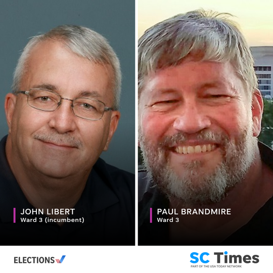 St. Cloud City Council Ward 3 candidates John Libert and Paul Brandmire.